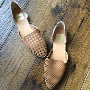 DV by Dolce Vita Tan and Gold slip on sandals/flat